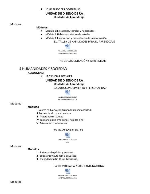 J. 10 HABILIDADES COGNITIVAS UNIDAD DE DISEÑO DE RA Unidades de Aprendizaje 31. TALLER DE HABILIDADES PARA EL APRENDIZAJE ...