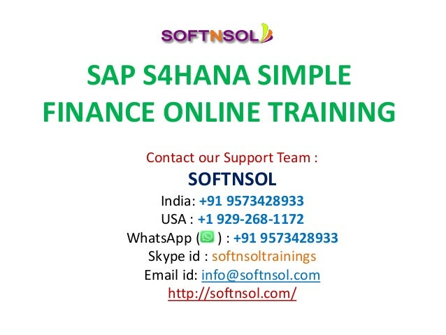 sap simple finance training online courses autos post