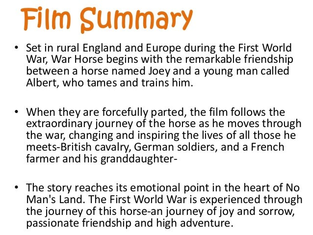 war horse michael morpurgo book summary
