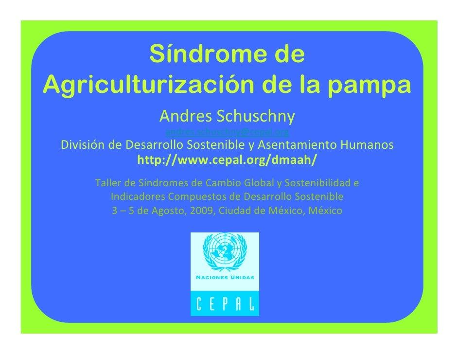Síndrome de Agriculturización de la pampa                    AndresSchuschny                     andres.schuschny@cepal.o...