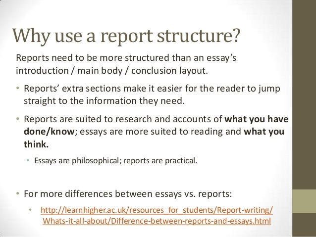 writing a report  information 7