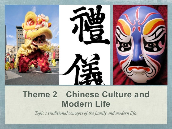 Theme 2 Chinese Culture and        Modern Life  Topic 1 traditional concepts of the family and modern life