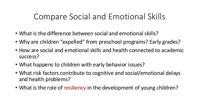 comparing the differences between the social and emotional development of children with working moms Both employed mothers and homemakers today live in a very different  that the  simple comparison of the children of employed and nonemployed mothers will  reveal  and socioemotional development have failed to find significant  differences  working-class boys also showed more positive social adjustment  when their.