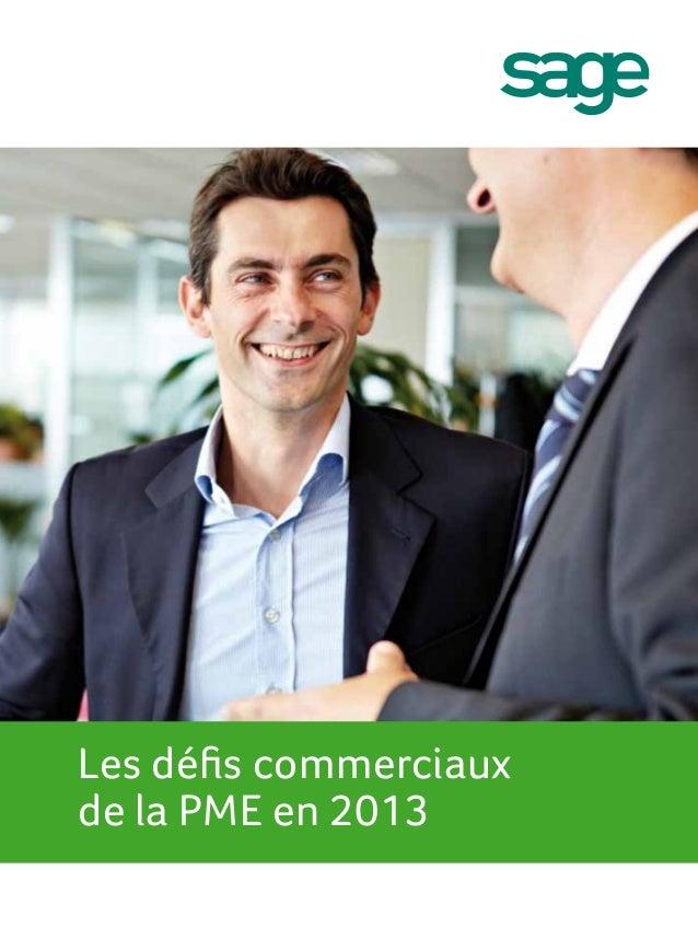 Les défis commerciauxde la PME en 2013