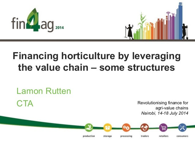 Financing horticulture by leveraging the value chain – some structures