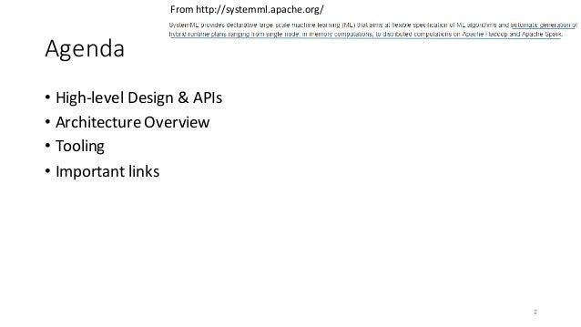 Apache SystemML Architecture by Niketan Panesar Slide 2