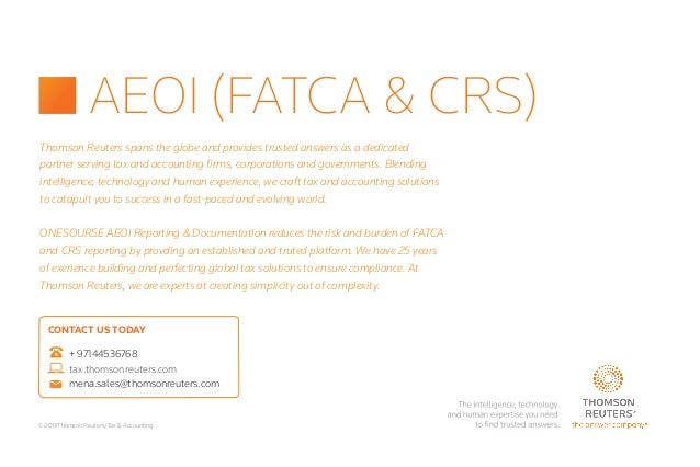 Thomson Reuters and Storm-7 Consulting - AEOI (FATCA & CRS