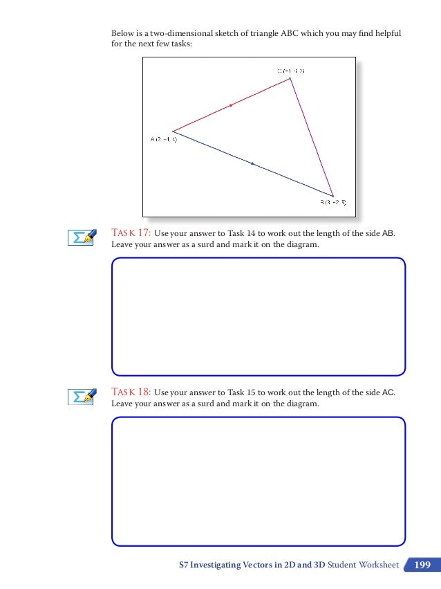 S7 investigating vectors student worksheet colour – Vectors Worksheet