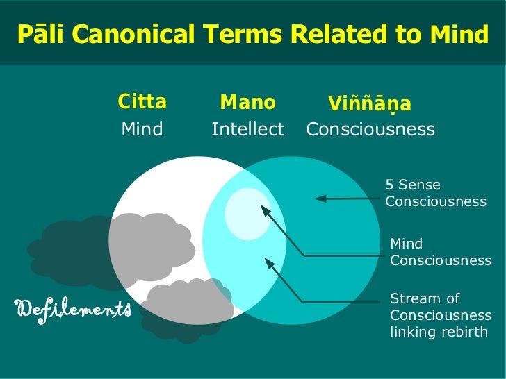 Pāli Canonical Terms Related to Mind         Citta    Mano         Viññāṇa         Mind    Intellect   Consciousness      ...