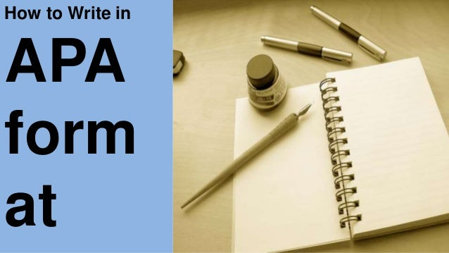 how to write in apa format Literature review: conducting & writing apa style in-text citations chicago (author-date) mla style in-text citations.