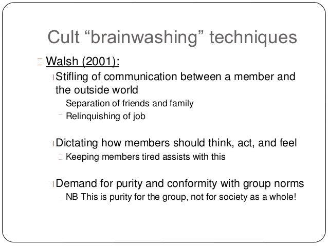 cult and brainwashing essay