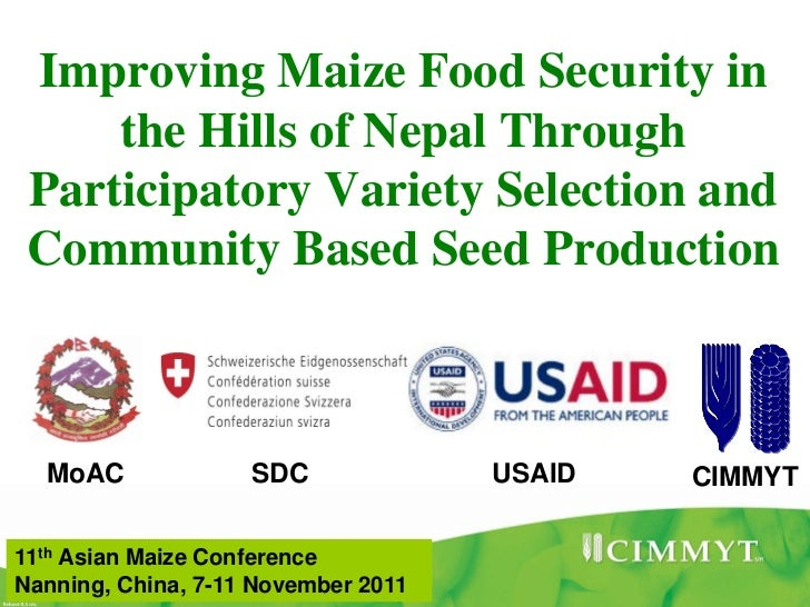 Improving Maize Food Security in     the Hills of Nepal Through Participatory Variety Selection and Community Based Seed P...