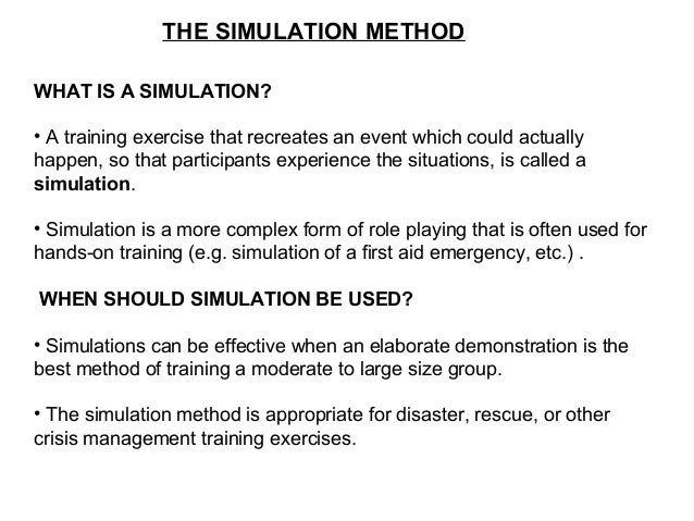 8 training methods Here we list the different methods of trainingyou can comment on the pros  8  management games management games simulate real-life.