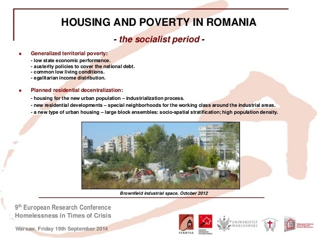 Housing Exclusion and Homelessness in Times of Economic