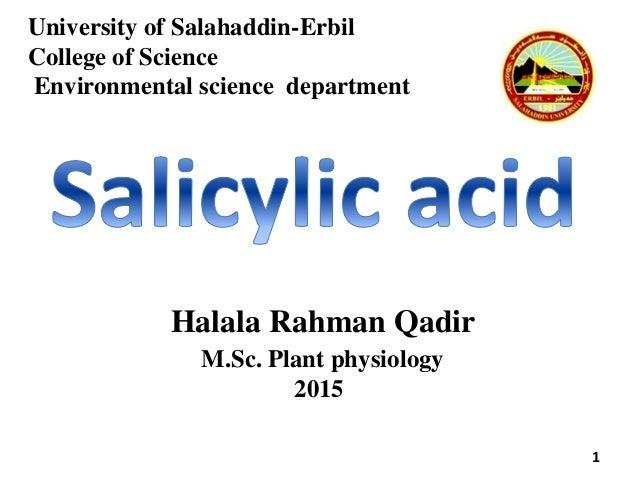 University of Salahaddin-Erbil College of Science Environmental science department 1 Halala Rahman Qadir M.Sc. Plant physi...