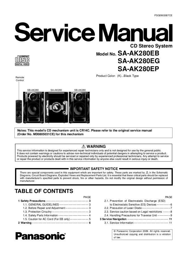 sa ak280 panasonic rh slideshare net panasonic kv-s5055c parts manual panasonic ne1856 parts manual