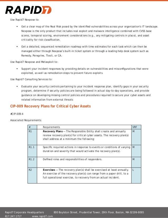 Rapid7 NERC-CIP Compliance Guide