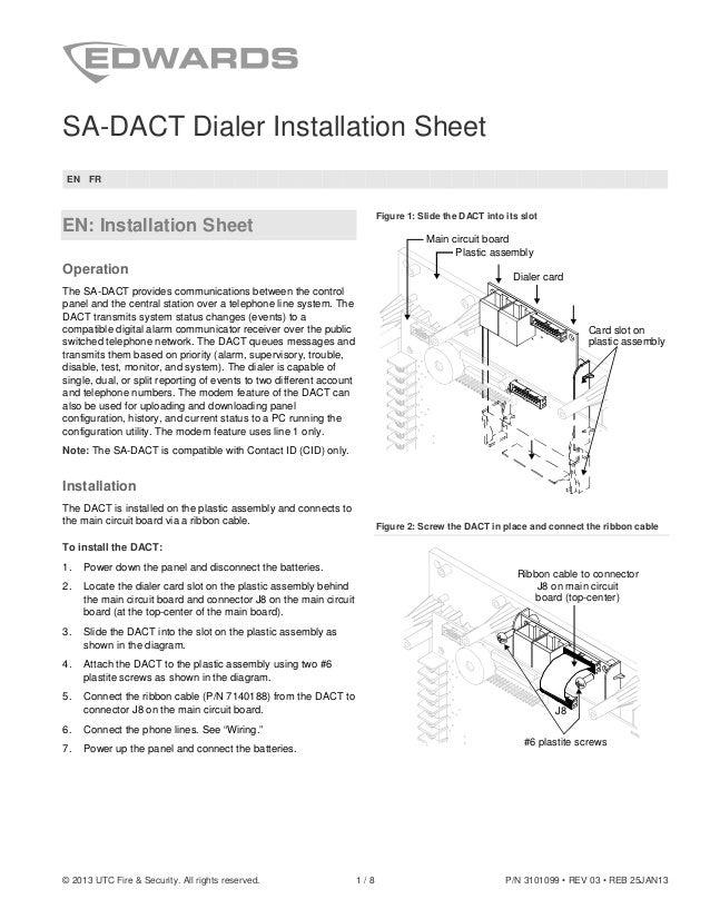 edwards signaling sa dact installation manual rh slideshare net Dact Audio Dact Gout
