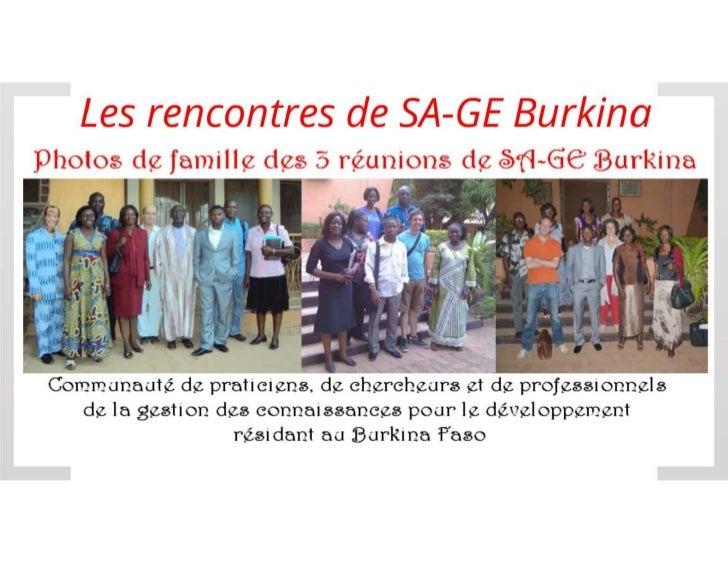 Présentation de SA-GE Burkina
