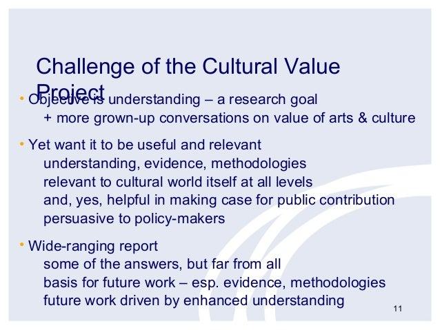 Cultural Value Project Professor Geoffrey Crossick