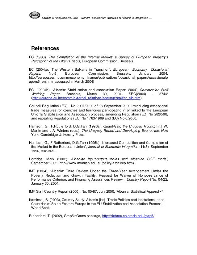 Integration of Albania to EU; opportunities and challenges - Essay Example