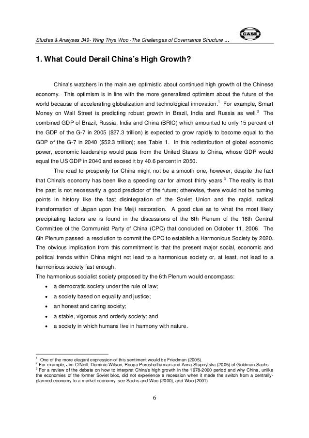 challenges to chinas governance How china responds to the challenges of resource security and sustainability, working with others, will help define its reputation as a responsible actor on the world stage in the next decade, according to a new paper china's new role in the global governance of natural resources is coming to the.