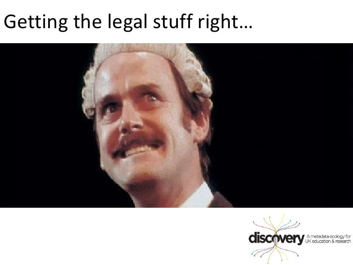 Getting the legal stuff right…<br />