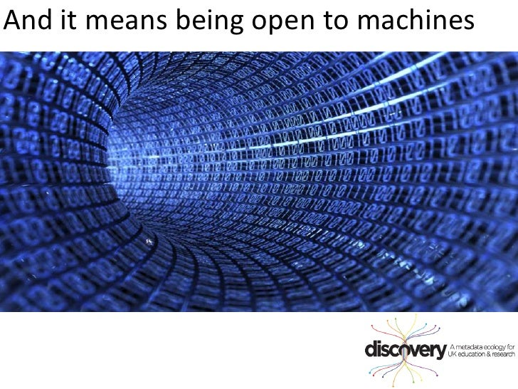 And it means being open to machines<br />