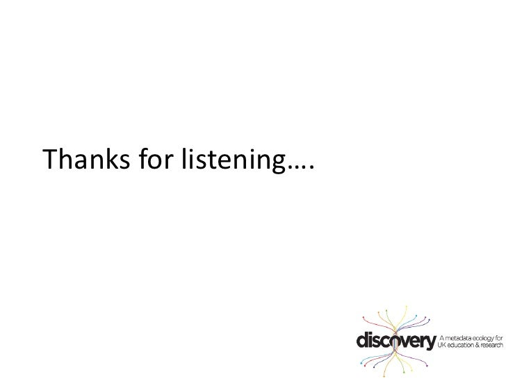 Thanks for listening….<br />