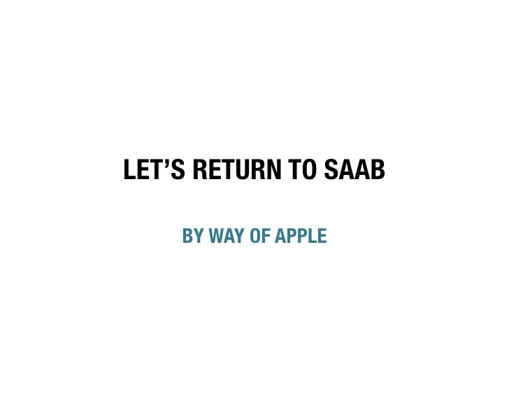 Saab Drivers Never Forget