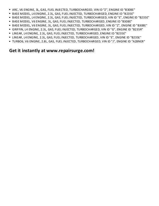 2001 saab 9-5 repair manual pdf