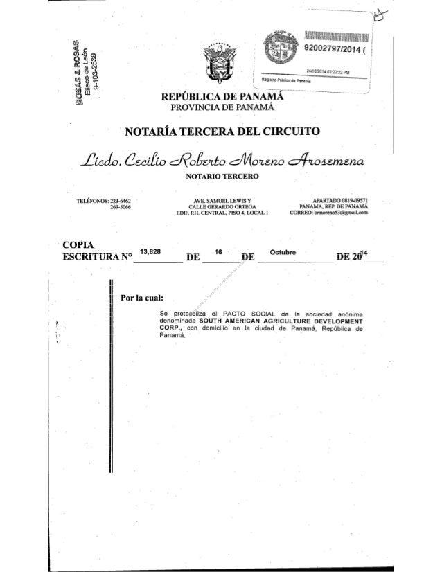 SAADC Panamanian Corporate Documents