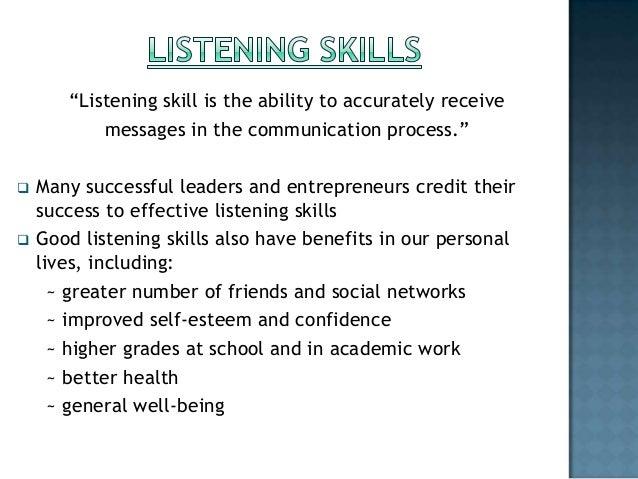 importance of listening skill
