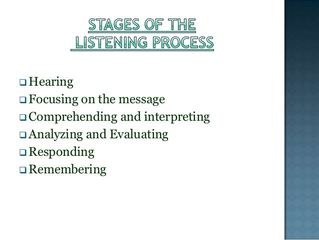 importance of listening and responding in Active listening is a communication technique that is used in counseling, training, and conflict resolutionit requires that the listener fully concentrate, understand, respond and then remember what is being said this is opposed to reflective listening where the listener repeats back to the speaker what they have just heard to confirm understanding of both parties.