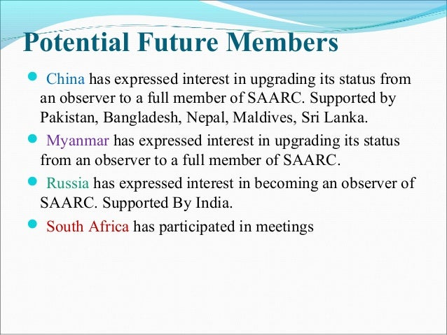 what is saarc and its objectives