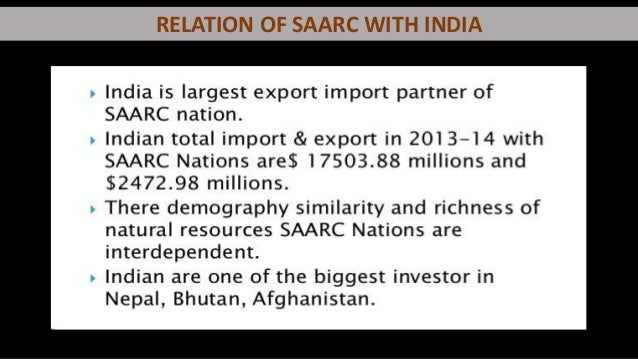 india and saarc