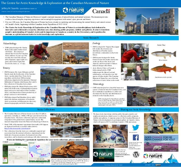 The Centre for Arctic Knowledge & Exploration at the Canadian Museum of Nature Jeffery M. Saarela - jsaarela@mus-nature.ca...