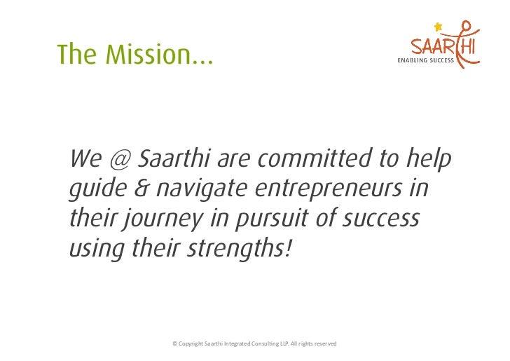 Saarthi For Entrepreneurs Slide 3