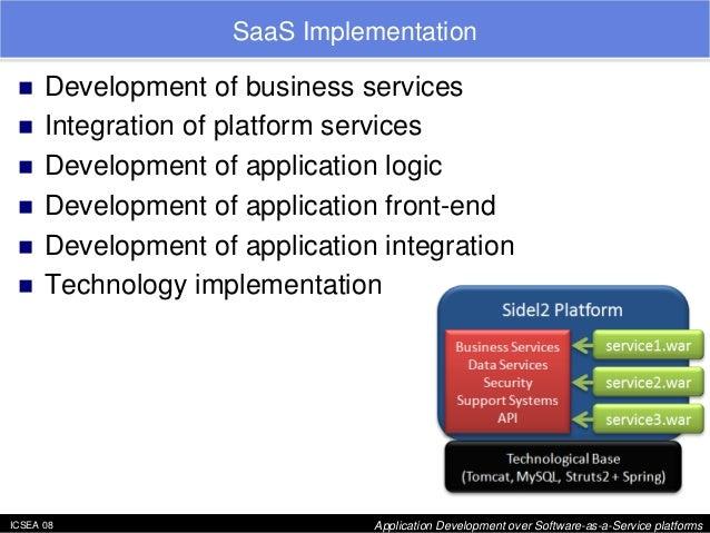 "ICSEA 08 Application Development over Software-as-a-Service platforms  SaaS Implementation  ""  Development of business ser..."