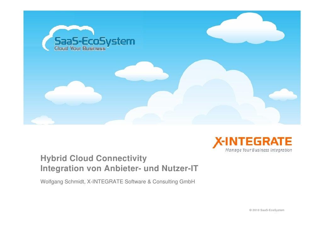Hybrid Cloud Connectivity Integration von Anbieter- und Nutzer-IT Wolfgang Schmidt, X-INTEGRATE Software & Consulting GmbH...