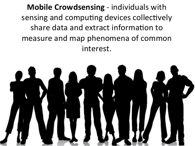 Mobile Crowdsensing -‐ individuals with sensing and compuUng devices collecUvely   share data and...