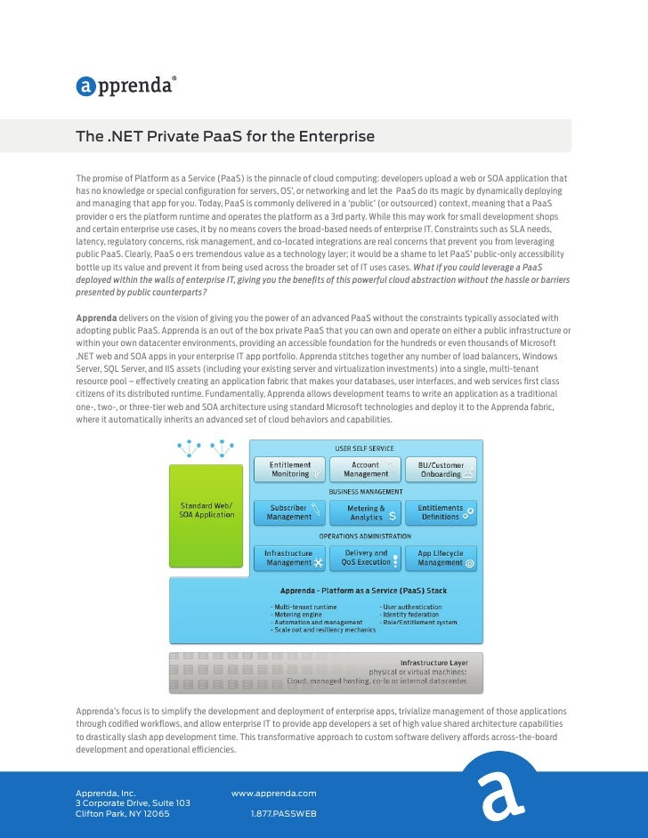 The .NET Private PaaS for the EnterpriseThe promise of Platform as a Service (PaaS) is the pinnacle of cloud computing: de...