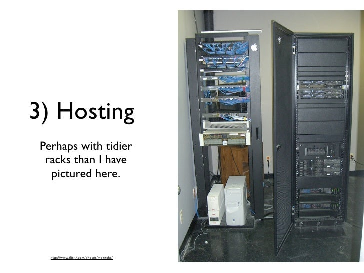 3) Hosting  Perhaps with tidier   racks than I have    pictured here.        http://www.flickr.com/photos/mpancha/