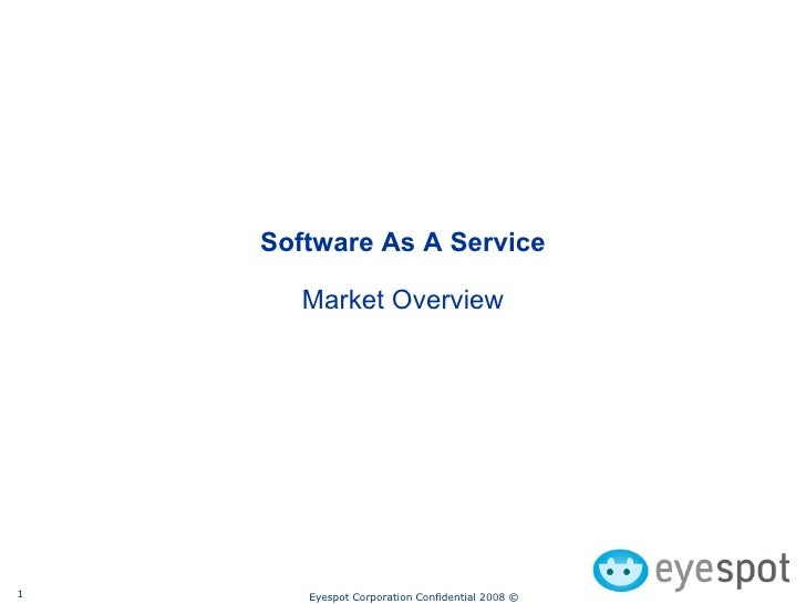 Software As A Service Market Overview