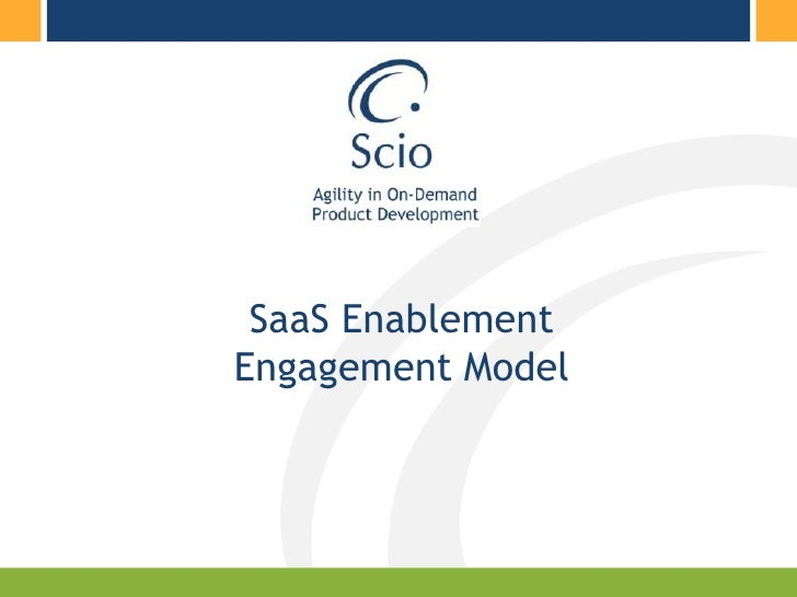 SaaS Enablement Engagement Model