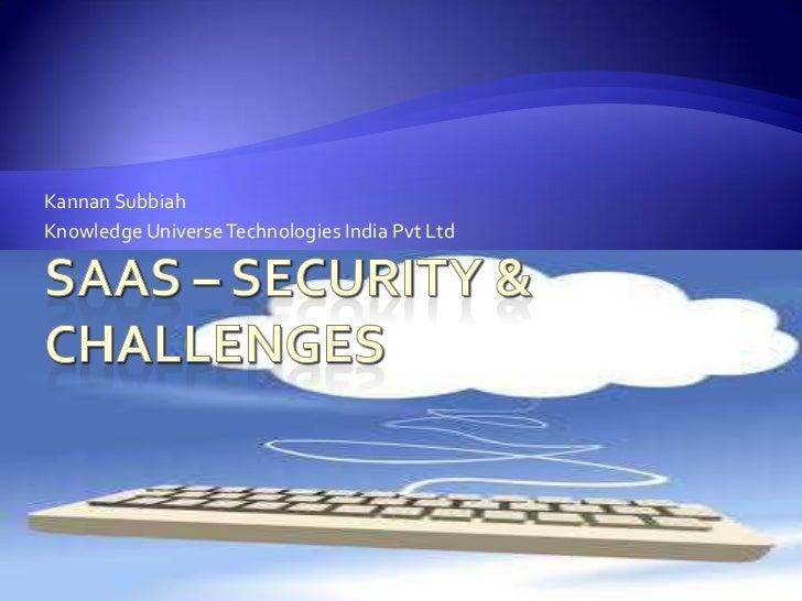 Kannan SubbiahKnowledge Universe Technologies India Pvt Ltd