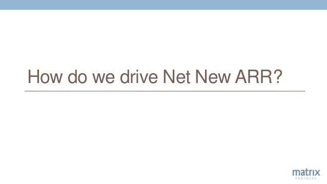 How do we drive Net New ARR?