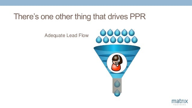 There's one other thing that drives PPR Adequate Lead Flow
