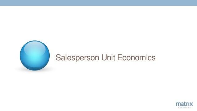 Salesperson Unit Economics