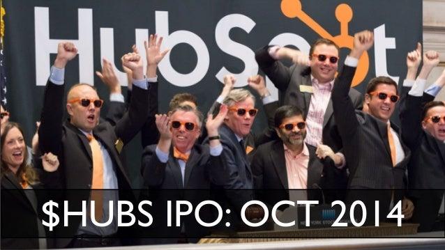 HubSpot Revenue 2009 2010 2011 2012 2013 2014 $6.6M $15.4M $28.6M $51.6M $77.6M $115.9M $38.2M 58% Y/Y $42.9M 58% Y/Y Q1'1...